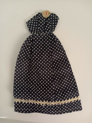 Vintage Barbie Clone/fab Lu/babs/Wendy Strapless Polka Dotted Gown- BEAUTIFUL  - $9.99