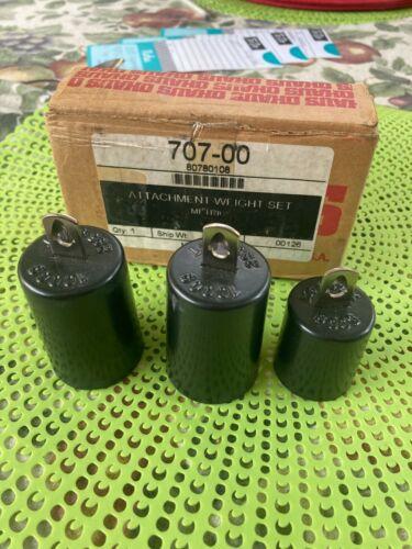 Ohaus Optional 3-Piece Metric Attachment Weight Set 707-00 1-500gr 2-1000gr