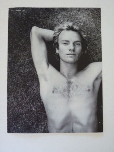 Sting Single Side Coffee Table Book Photo Page 8x11