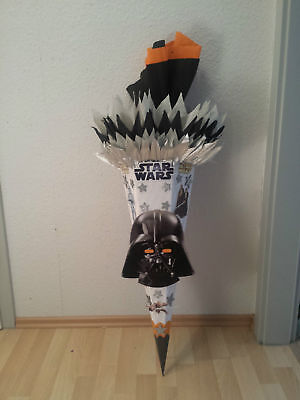 Schultüte Zuckertüte - Starwars-Design Darth Vader-Maske - - Darth Maske