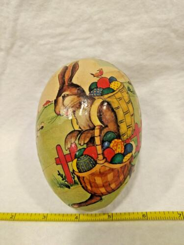 "Vintage German Paper Mache Egg ""PETER RABBIT"""