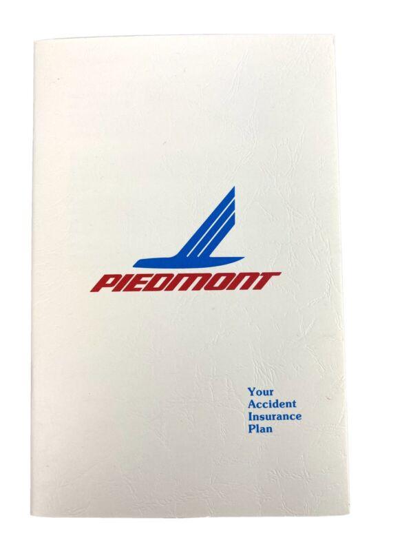 Vtg Piedmont Airlines Accidental Death & Dismemberment Plan Insurance Pamphlet