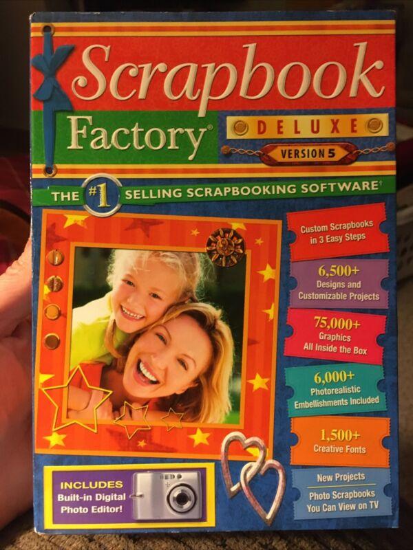 Scrapbook Factory Deluxe Version 5 Scrapbooking Software Customizable Templates
