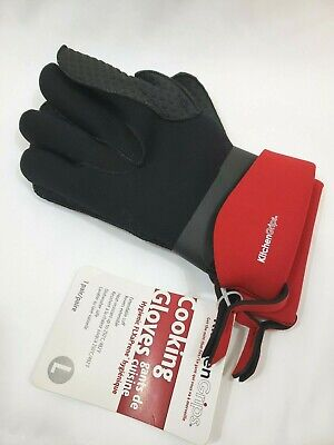 Cuisipro KitchenGrips FLXaPrene Red & Black Chef's Gloves - Set of 2