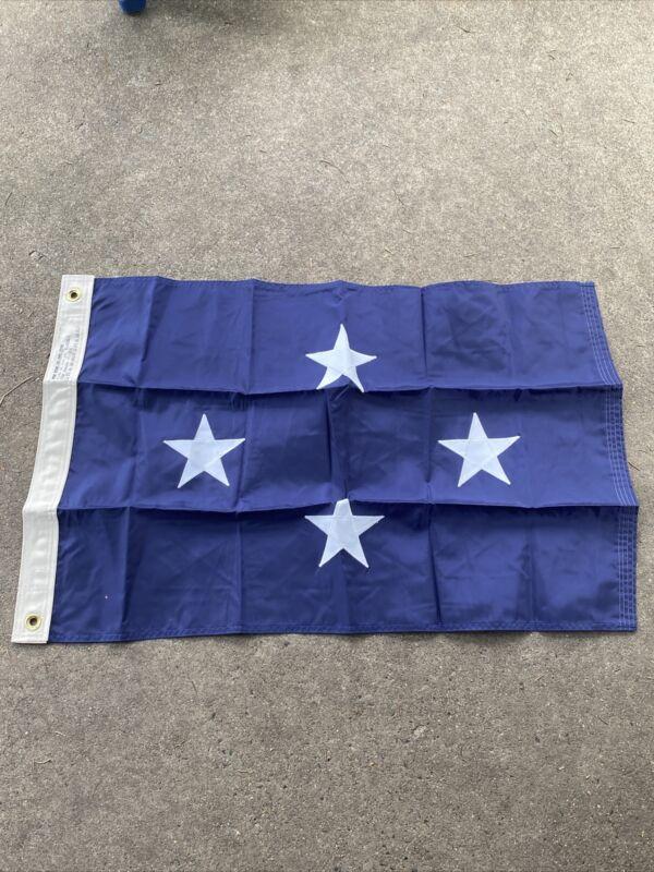 US Navy 4 Star Admiral Flag 34x22 Inch (VB2776