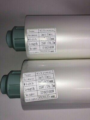 Signature Thermal Laminating Paper Gloss 3 Mil W25 L250