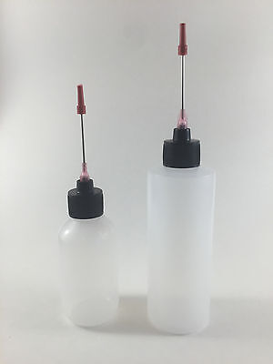 Plastic Squeeze Bottles 2oz 4oz 3 Applicators For Liquid Flux Solder