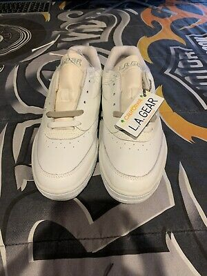 Vintage Mens LA GEAR Low Top Sneakers Size 10 NWOB Small Flaws White Clean