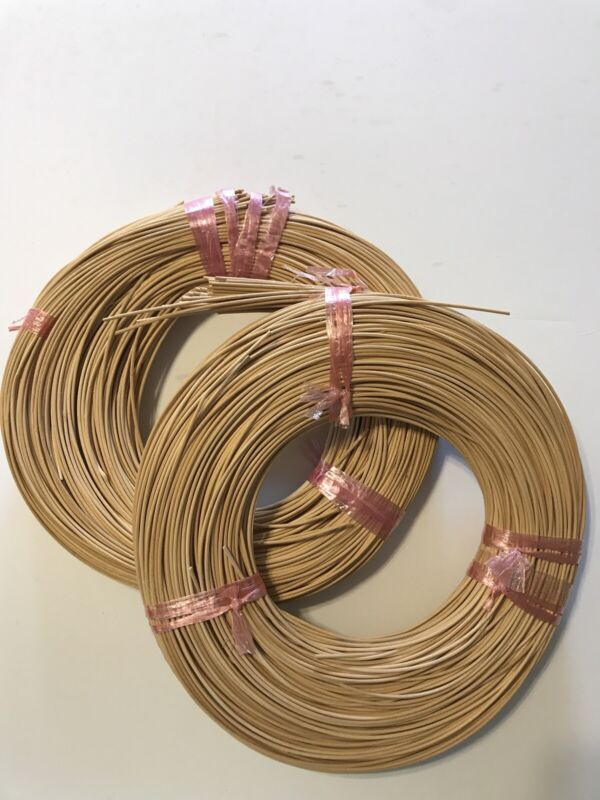 2 Round Reed #2 1.75 MM 1 lb Coil Caning Reeds First Quality Basket Chair Making
