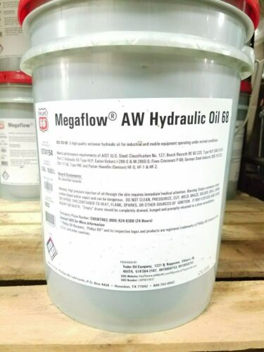 Phillips 66 Megaflow AW 68 Hydraulic Oil; 5 gallon pail; R&O compatible