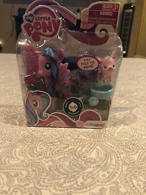 My Little Pony Flitterheart & Pet Piglet  G4 FIM NIB 2010 ( Rare )