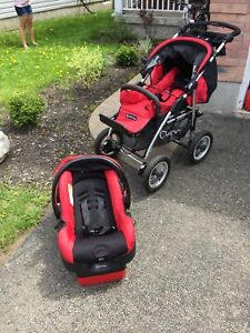 Quinny stroller and car seat