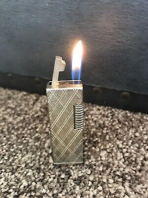 Vintage Lighter GAS Cigarette Lighter Gold Tone Patterned Stamp SSS Man Cave 🌈