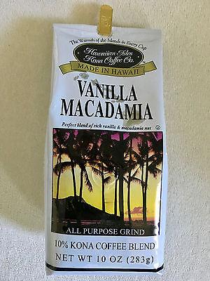 LOT 4x Hawaiian Isles Kona Coffee Co. Vanilla Macadamia Nut powder NEW Free Ship