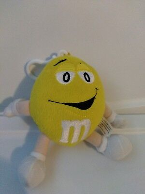 Collector's Edition M&M's Plush YELLOW ClipOn Radio  untested sold as is J31