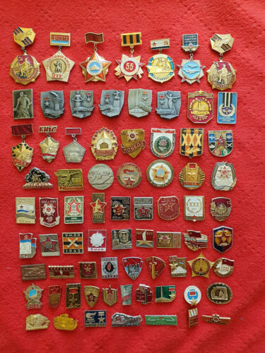 Set 74 Soviet USSR Badge Pin WW2 Great Patriotic War