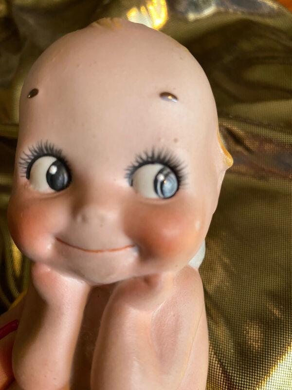 Vintage Bisque Thinker Kewpie Doll