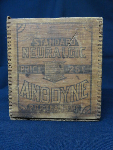 Snake-Oil Advertising Box Portland ME Standard Neuralgic Anodyne Quack Medicine