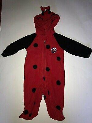 NEW Ladybug Baby Girl Blanket Sleeper Halloween Costume One-Piece 3/6