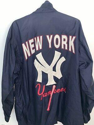 APEX ONE MLB NY NEW YORK YANKEES YANKS JACKET SIZE MEDIUM VTG CLASSIC LOGO