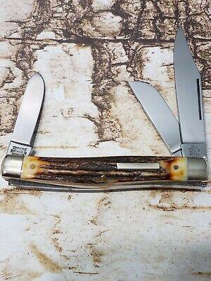 """Vintage Solingen Germany Simmons Hardware Hornet 2397 Stag 4"""" Stockman Knife"""