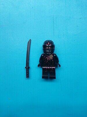 Lego Ninjago Minifigure NRG Cole Black Torso Red Energy Pattern w/Katana - Lego Ninjago Black