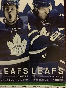 Toronto Maple Leafs vs. Phoenix Coyotes-Sun. Jan 20