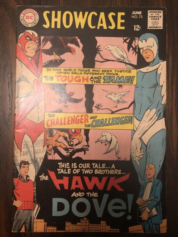 SHOWCASE #75 FIRST APPEARANCE OF HAWK AND THE DOVE 6.5 FN+ Condition