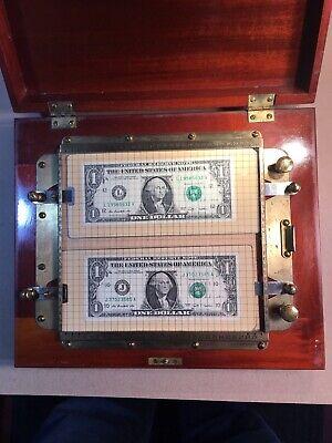 Antique Porter U.s. Paper Money Counterfeit Detector Machine Us Wi Booklet Rare