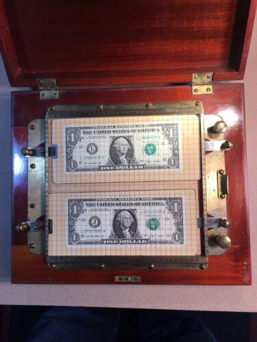 Antique PORTER U.S. Paper Money Counterfeit Detector Machine US wi/ booklet RARE