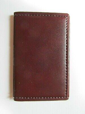 Vintage Genuine Brown Leather Hazel Personal Business Card Holder