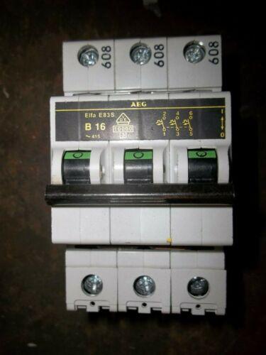 AEG ELFA E83S B16 3 POLE CIRCUIT BREAKER (WL79)