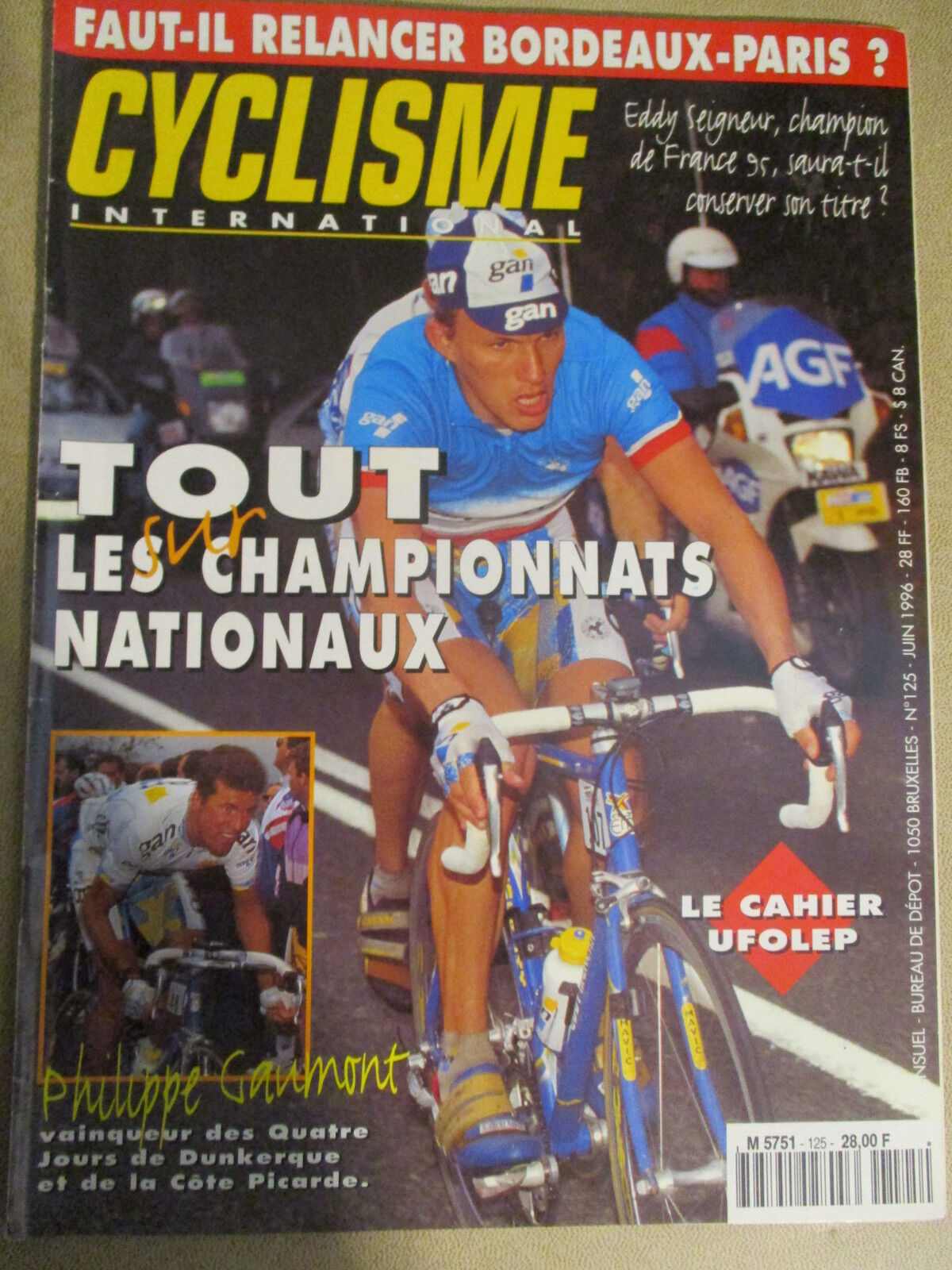 CYCLISME INTERNATIONAL : N°125 : JUIN 1996 + POSTER LANCE ARMSTRONG