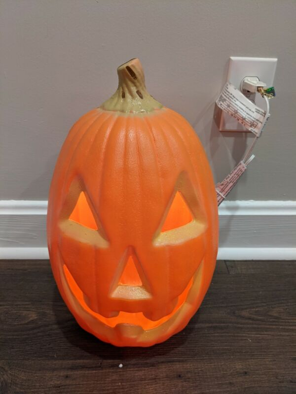 """New Realistic Looking Pumpkin Blow Mold Light up, 16"""" Tall General Foam Plastics"""
