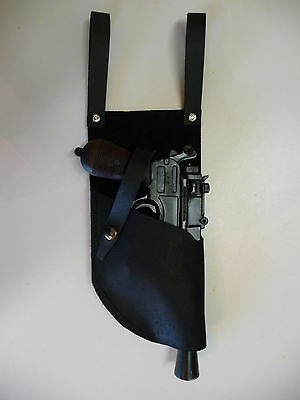 Star Wars Black DL-44 Mauser Merr Sonn Power 5 LEATHER HOLSTER 4 oz fits - Blaster Holster