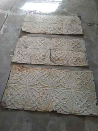 """ANTIQUE CEILING TILE 48"""" X 24"""" METAL TIN PANEL FOR CRAFT"""