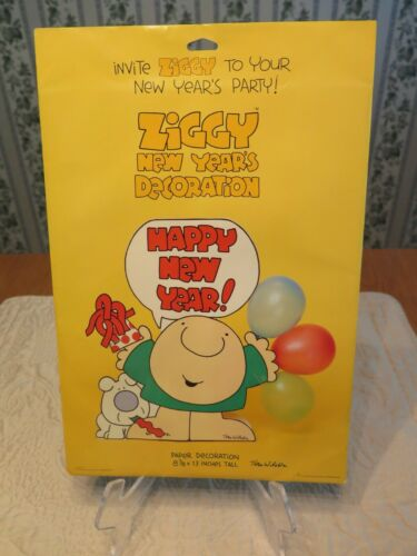 SEALED Vintage 1978 ZIGGY Paper Holiday New Years Decoration American Greetings