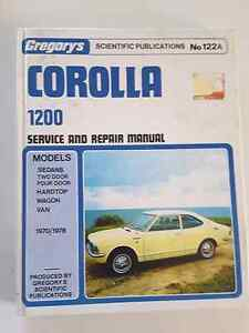 Workshop Manual Corolla******1970 -1980. GREGORYS. Doubleview Stirling Area Preview