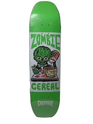 Creature Zombie Cereal Skateboard Deck 8.25 New in Shrink Rare/Collectable