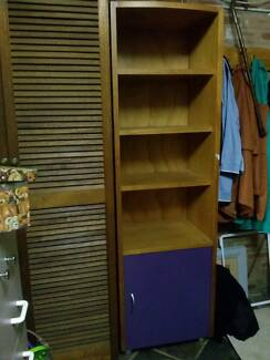 Book Shelf Tall Narrow with Cupboard x 2 Burwood Heights Burwood Area Preview
