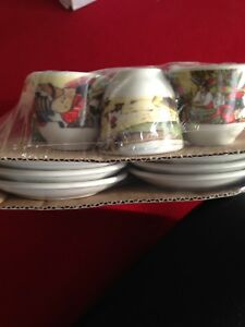 Espresso cups with saucers set of 6 New