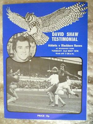 1978 David Ahaw Testimonial Match- OLDHAM ATHLETIC v BLACKBURN ROVERS, 2nd May