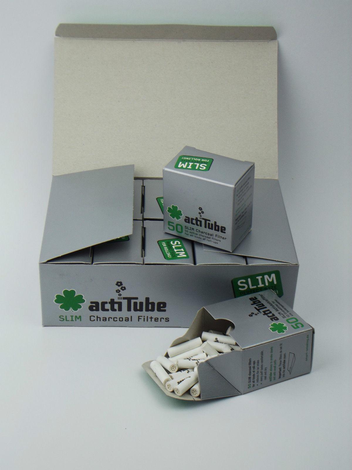 actiTube Aktivkohle Filter Slim 7mm 1 Paket / 50Stück