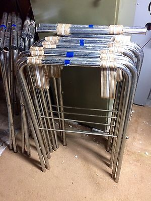 Restaurant Equipment Lot Of 8 Chrome Folding Tray Stands 30-31 Tall