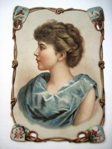 "Gorgeous Victorian Die Cut Trade Card ""Great Atlantic & Pacific Tea Co.""  *"