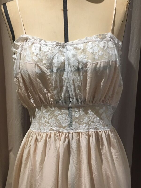 Vintage Silk And Lace Boudoir Maxi