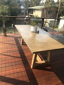 Outdoor Concrete Dining Set - 2400x1000mm