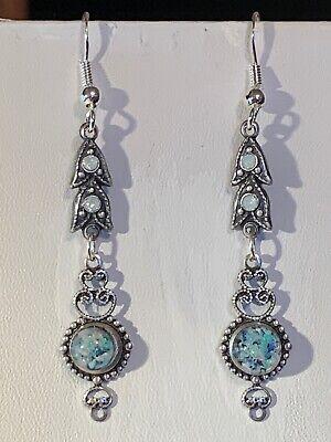1920s Art Deco Jewelry: Earrings, Necklaces, Brooch, Bracelets SALE!! VINTAGE ART DECO AUSTRALIA OPAL 2-DROP EARRINGS .925 STERLING WIRES-NEW#1 $21.50 AT vintagedancer.com