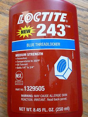 Loctite 243 Blue - Medium Strength Threadlocker - 250ml 8.45 Oz