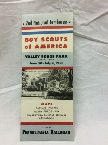 Vintage 1950 Boy Scouts of America Pennsylvania Railroad Pamphlet Valley Forge